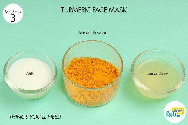 turmeric face pack for dark spots things need