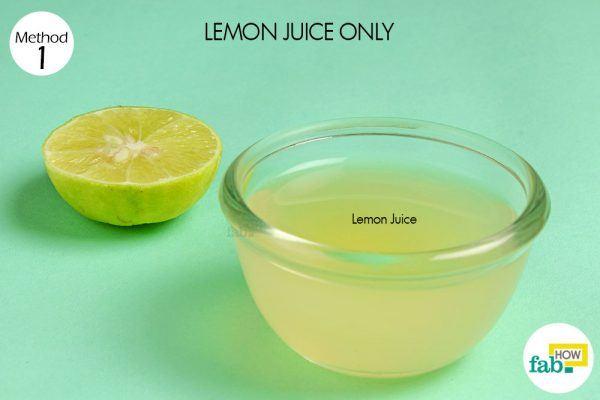lemon juice for dark spots things need