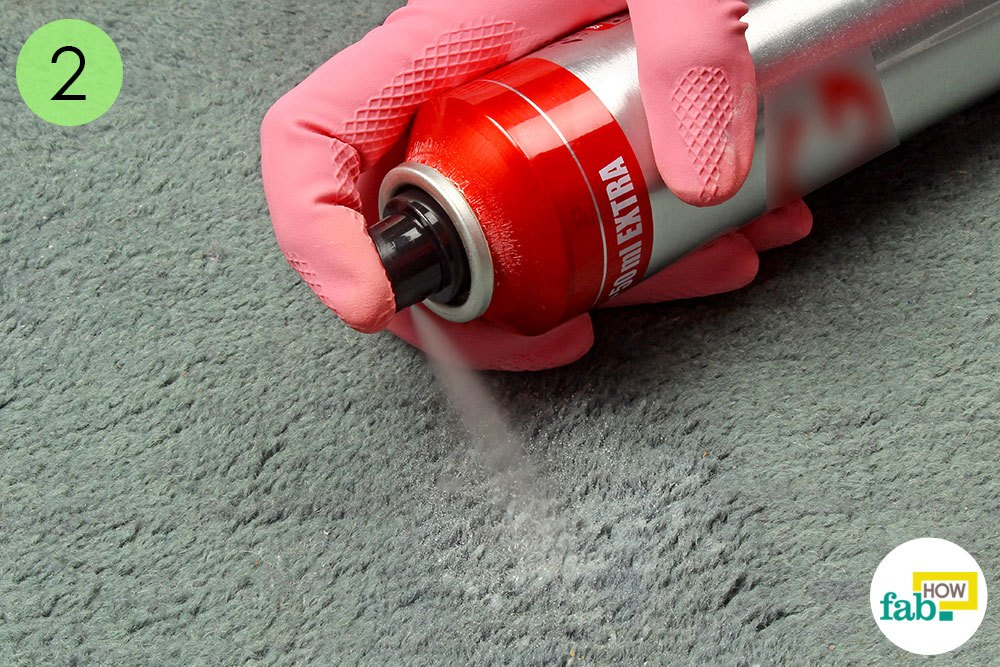 Spray Some Hair Over The Stain On Carpet