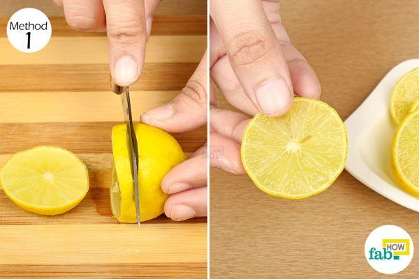 rub lemon slices on dark underarms