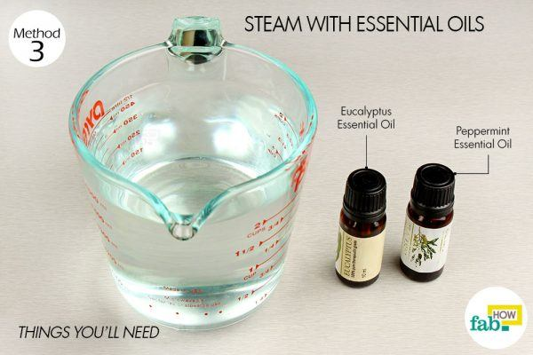 steam with eseential oils for chest congestion