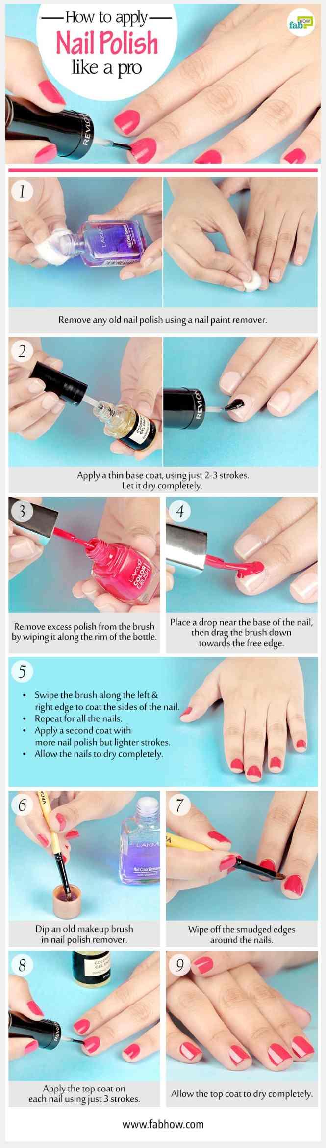 How To Apply Nail Polish Summary
