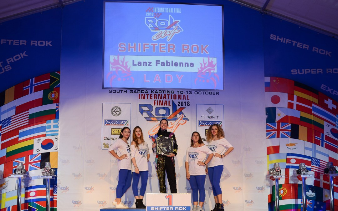 Tough challenge in shifter class for Fabienne at ROK Final in Lonato