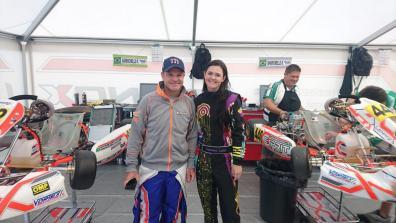 Fabienne with Rubens Barachello