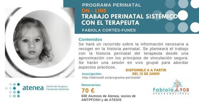 Curso perinatal online Fabiola Cortes Funes psicología