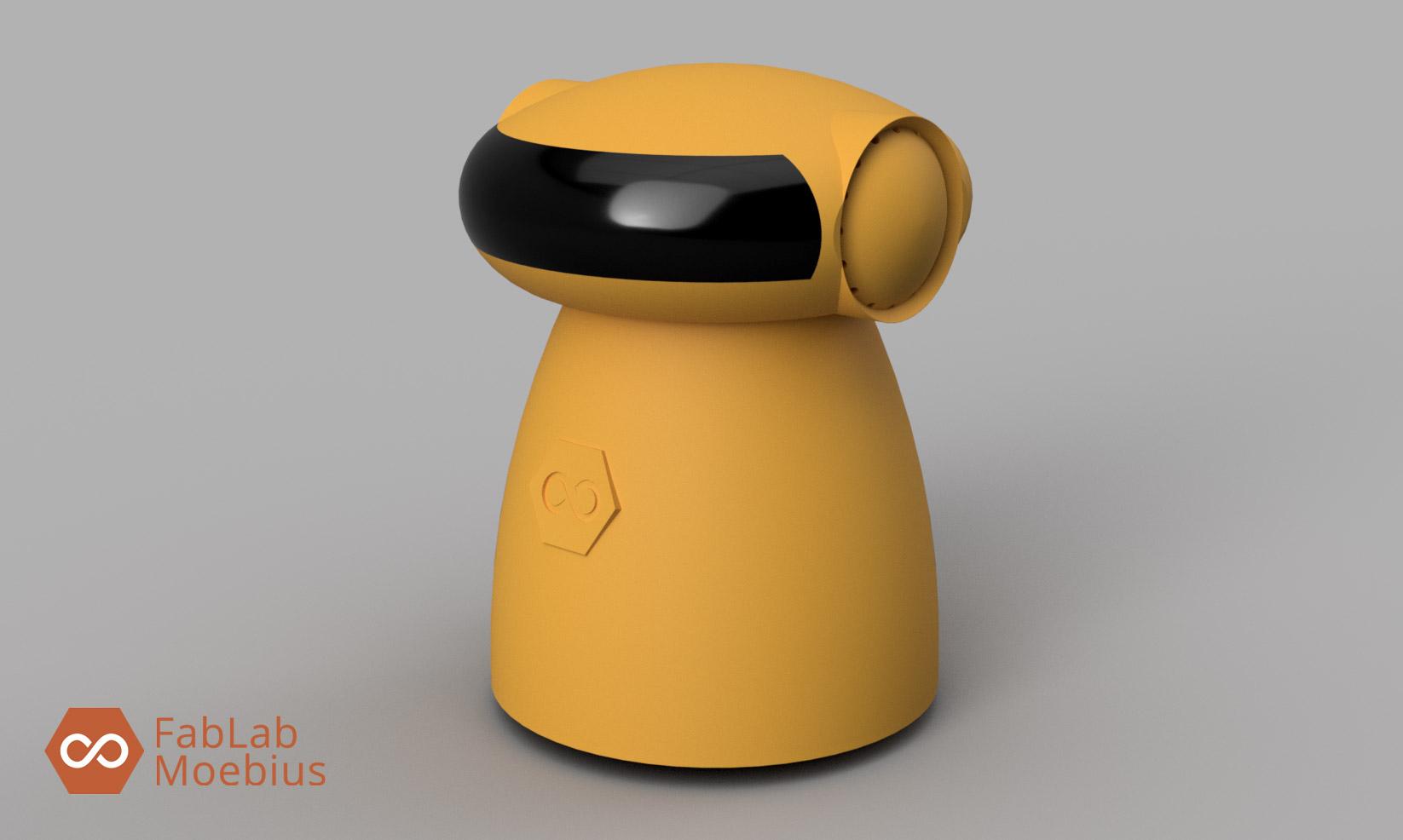 Mobee One le robot pilotable à la voix du FABLAB MOEBIUS