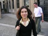 Marta a Milano in occasione di un colloquio di lavoro nel 2005