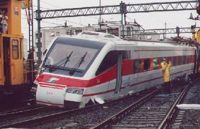 Un Etr460 deragliato a Firenze