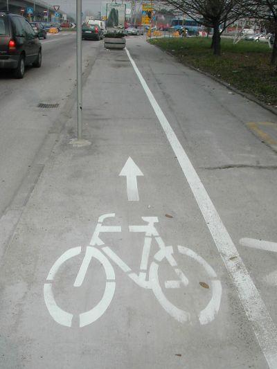 piste ciclabili a Padova nel 2004