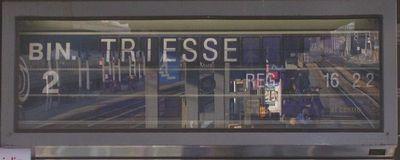 L'annuncio del mio treno, domenica 27 febbraio 2005 a Mestre