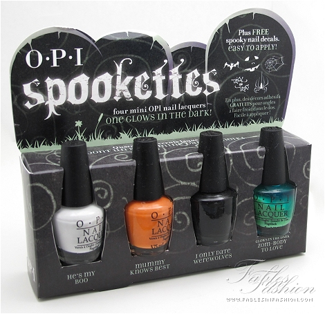 Opi Spookette Halloween 2011 Collection Review Swatches And Photos