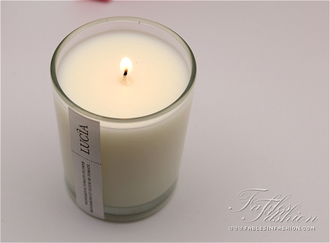 Lucia Soy Candle - Mandarin & Tomato Flower