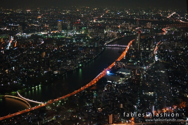 Tokyo at night from Skytree Tower