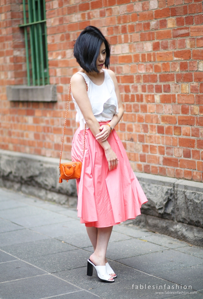 Cotton Coral Skirt Forever New