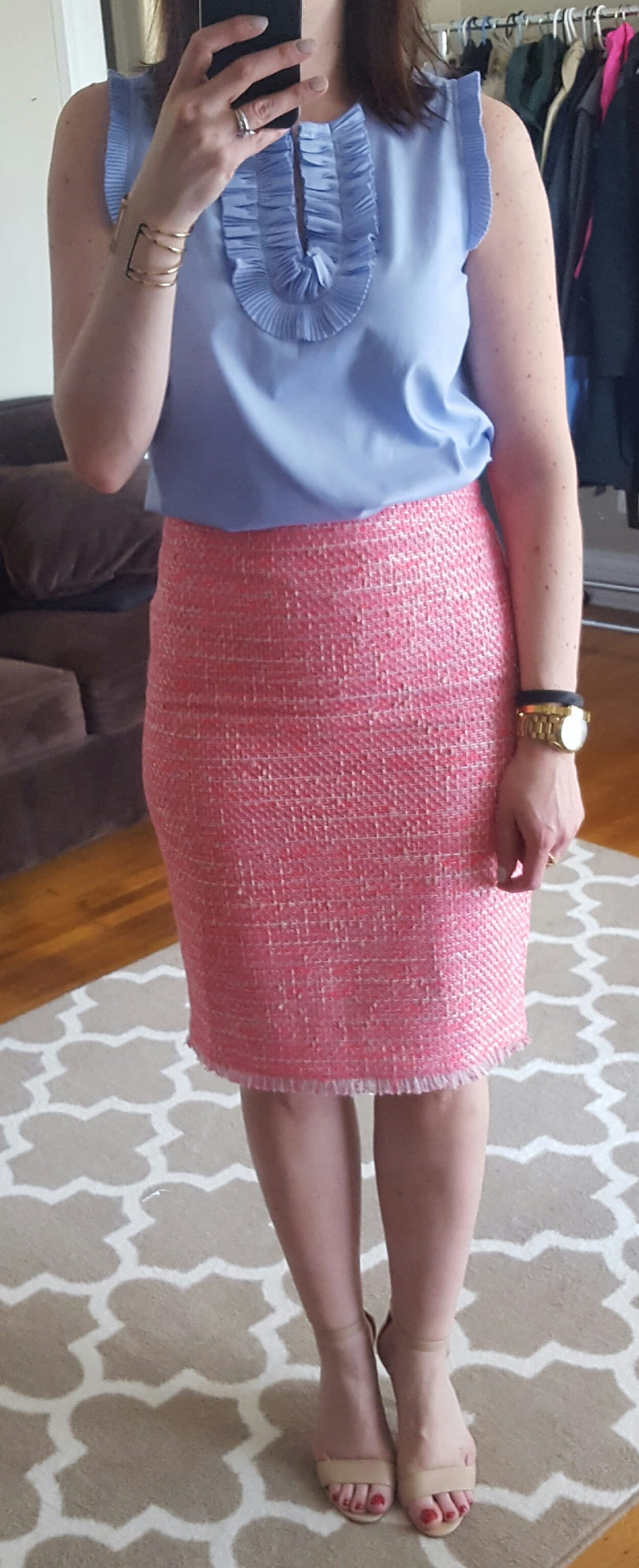 d37ddbe2fc5d Next up, from my online order, the Pencil skirt in neon fuchsia tweed.