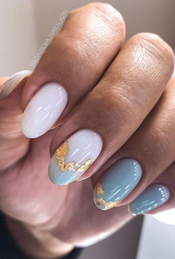 Creative & Pretty Nail Trends 2021 : Two Tone Nails