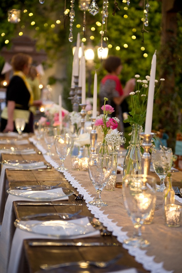 For The Table Vintage Wedding Reception Rustic Outdoor Chic