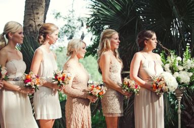 different neutrals bridesmaids