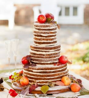 autumn rustic wedding cake