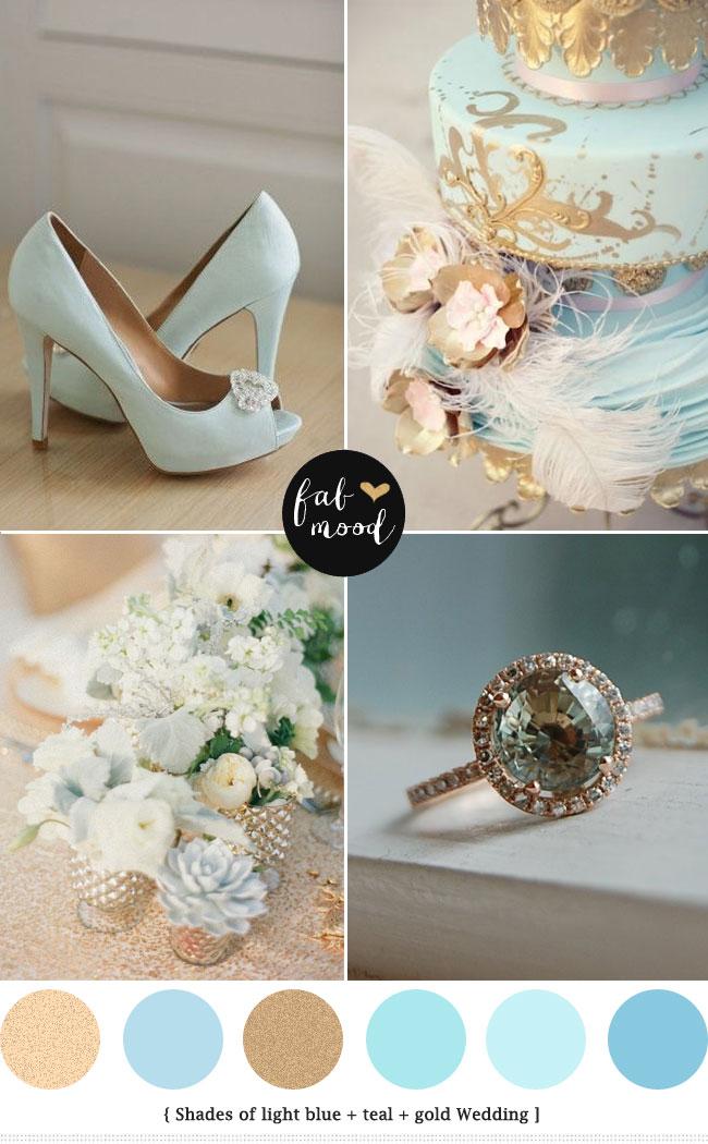 Light Blue And Gold Wedding Colorsbaby Blue Wedding Palette