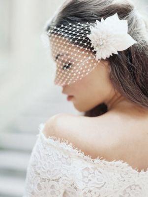 birdcage bridal veil