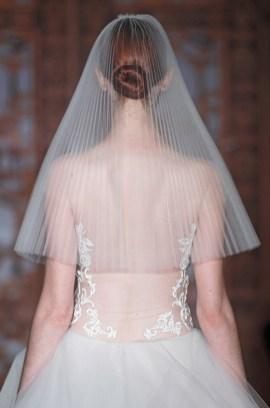 Reem Acra bridal veil