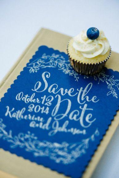 blue wedding save the date | fabmood.com