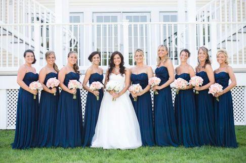 blue bridesmaid - blue wedding ideas: fabmood.com