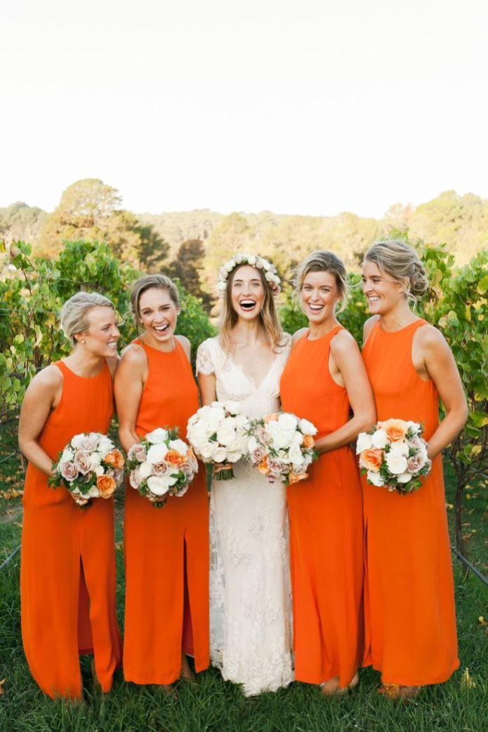 Orange bridesmaid dresses add a fresh fun colour long orange bridesmaid dresses fabmood junglespirit Images