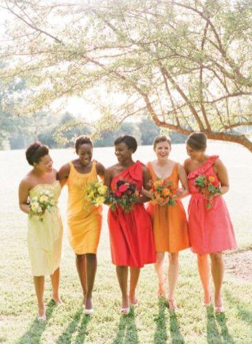 Orange bridesmaid dresses add a fresh fun colour orange bridesmaid dresses fabmood junglespirit Images