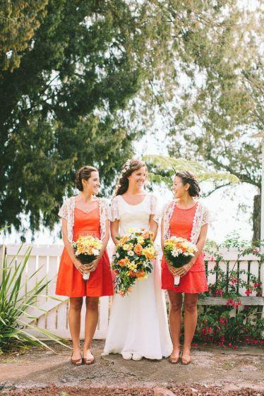 orange bridesmaid dresses | fabmood.com