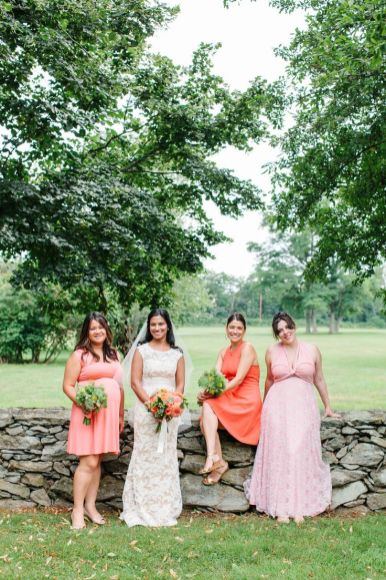 orange bridesmaid dresses | fabmood.com