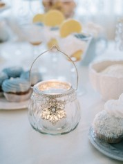Wedding desserts table | Light Blue Winter Wedding Read more Real Winter Weddings | fabmood.com #winterwedding