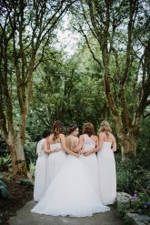 Bride and white bridesmaid dresses for June Wedding | fabmood.com #bridesmaids #whitebridesmaids #whitebridesmaiddresses
