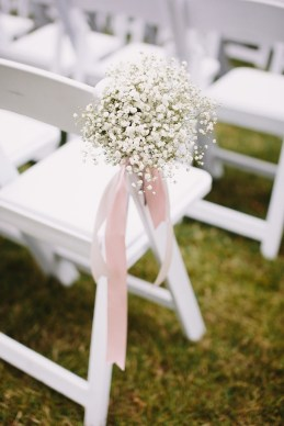 Wedding ceremony aisle decorations | fabmood.com #babybreath #blushwedding