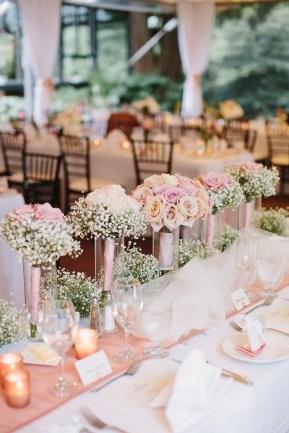 Blush wedding centerpieces | Wedding Reception | Fab Mood #weddingreception