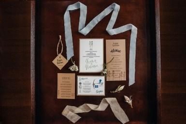 Misty grey colour theme - Rustic wedding invitation | fabmood.com #weddinginvites #weddingstationery