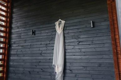 Misty gray color theme - Misty grey chiffon wedding dress | fabmood.com #weddingdress #greyweddingdress #weddingdress