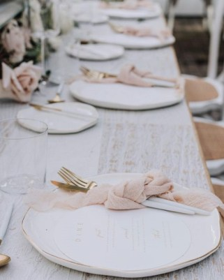 minimalist wedding table decors