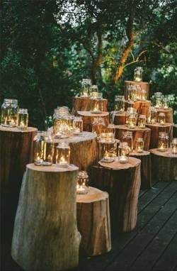 Romantic outdoor wedding decorations #decor #wedding #candles