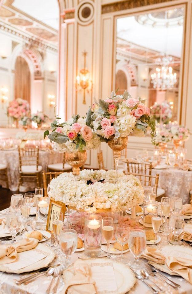 Blush Rose Gold Wedding Colour Palette For Elegant ...