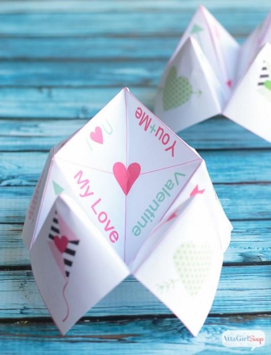 Free Printable Valentine Cootie Catcher