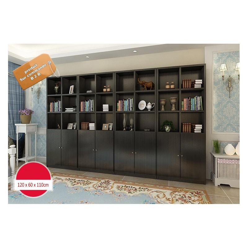 b2b meuble bibliotheque de bureau noir modulable marron effet neutre blanc www fabric mada com