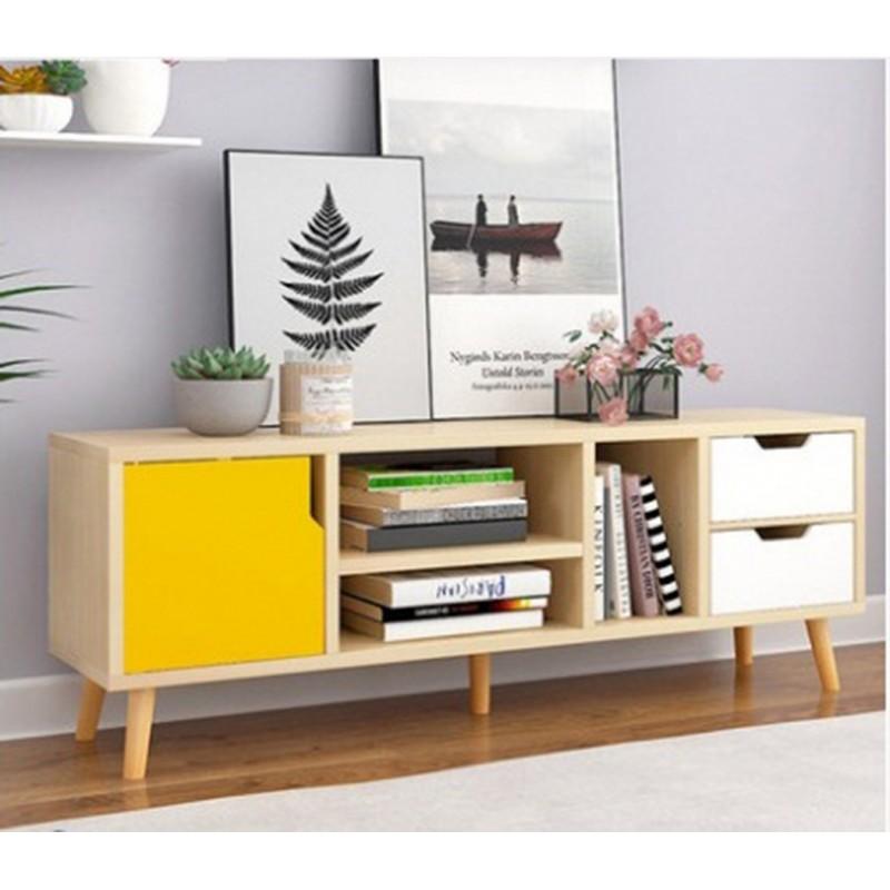 meuble tv scandinave 1 portes et 2