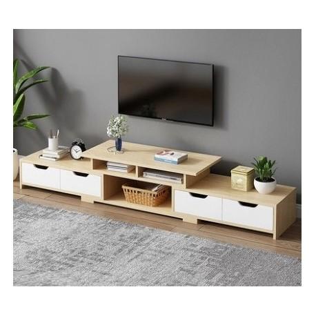 m07 20 meuble tv 4 tiroirs 2 tons neutre blanc nouveau modele www fabric mada com