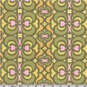 Amy Butler Midwest Modern Garden Maze Olive Fabric