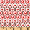 Tula Pink Prince Charming Voile Hex Box Coral Fabric