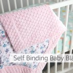 Self Binding Baby Blanket Tutorial Learn How To Create A Quick And Easy Self Binding Baby Blanket In A Few Steps Using Minky And Double Gauze This Project Makes A Perfect