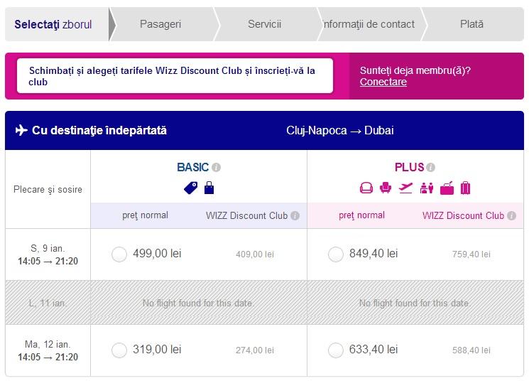 Wizz Air Cluj-Dubai