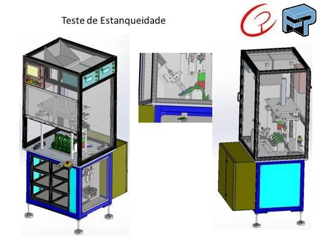 Projeto mecanico completo maquinas para Teste de Estanqueidade fabricadoprojeto